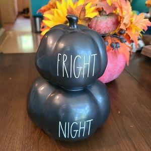 "Rae Dunn ""FRIGHT NIGHT"" Stacked Pumpkins"